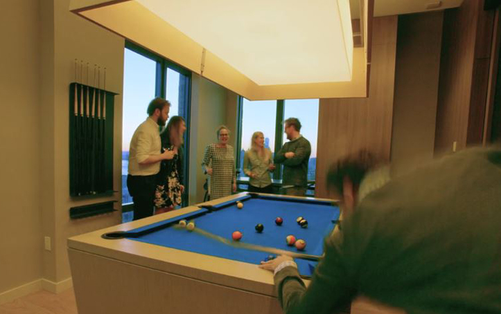 Billiards with Panoramic Views.