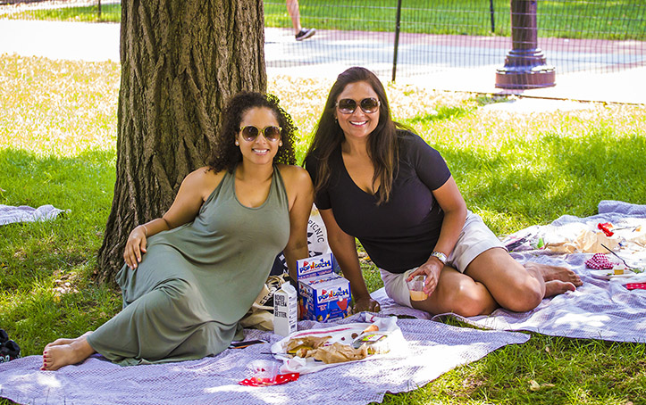 Picnics next door in Fort Greene Park