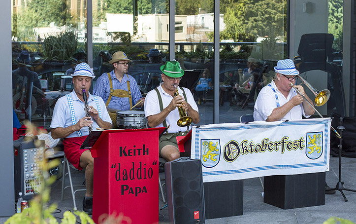 Polka Band playing for Oktoberfest